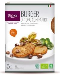 Burger di Tofu con Farro - Hamburger vegetariano BIO a base di Tofu e Cereali