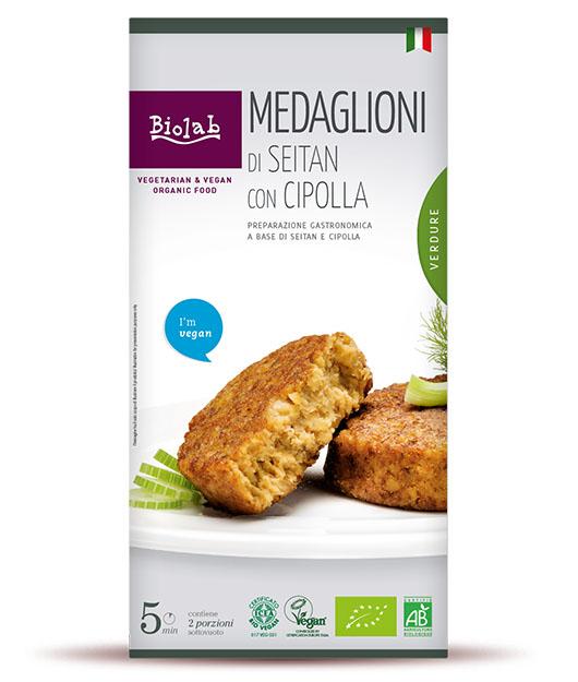 Medaglioni di seitan con cipolla - Prodotto Vegano a base di Seitan