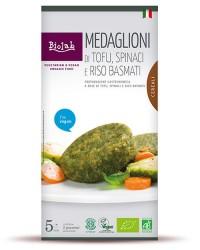 Medaglioni di Tofu, Spinaci e Riso Basmati - Con Tofu Cereali e Verdure Biologiche