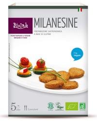 Milanesine - piccola milanese vegana panata a base di seitan