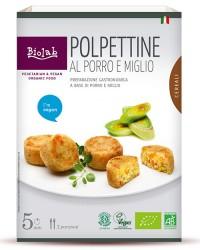 Polpettine al porro e miglio - Secondo piatto vegano a base di cereali e verdure