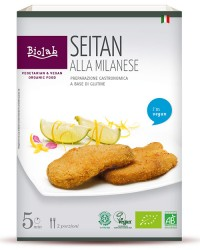 Seitan alla Milanese - Seitan panato da soja biologica